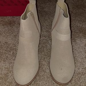 Never worn Bebe ankle boots size 9